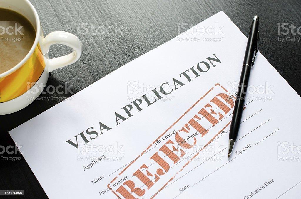 visa application - denied royalty-free stock photo
