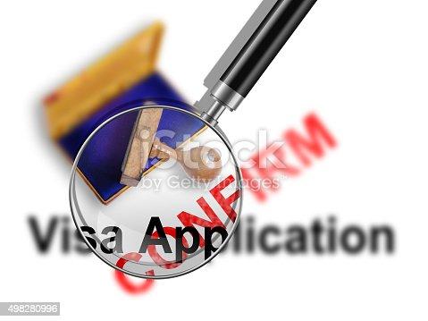 istock Visa Application 498280996
