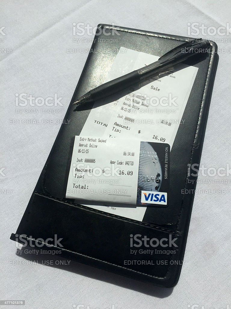 Visa Credit Card stock photo