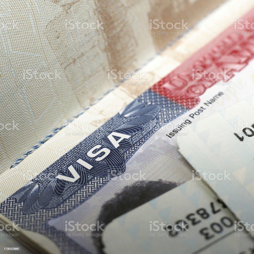 Visa document royalty-free stock photo
