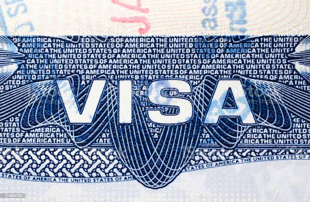 USA visa royalty-free stock photo