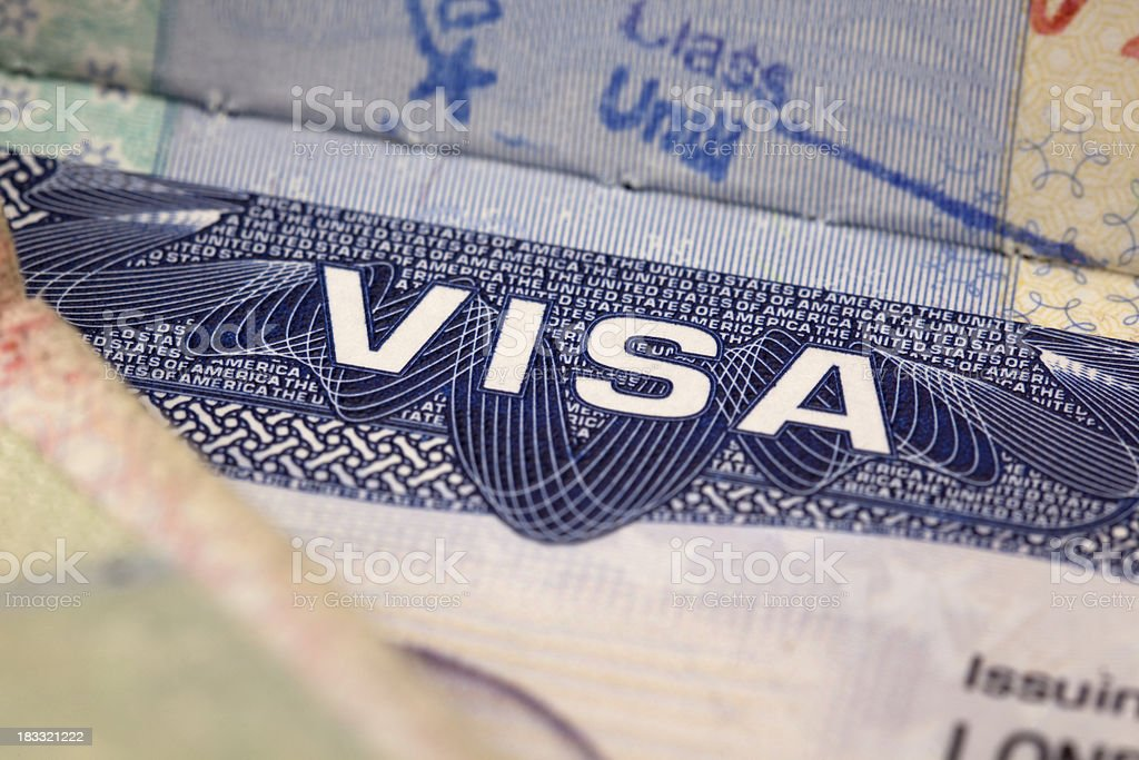 US Visa stock photo