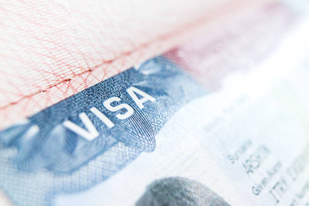 Visa stamp travel passport immigration macro emigration Visa stamp travel passport immigration macro emigration customs stock pictures, royalty-free photos & images
