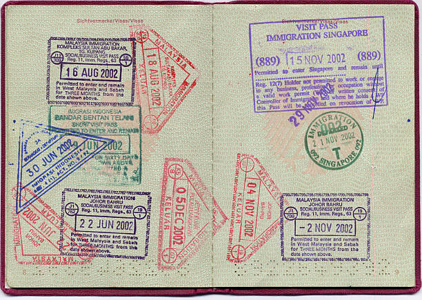 Visa stamps  pasport malaysia stock pictures, royalty-free photos & images