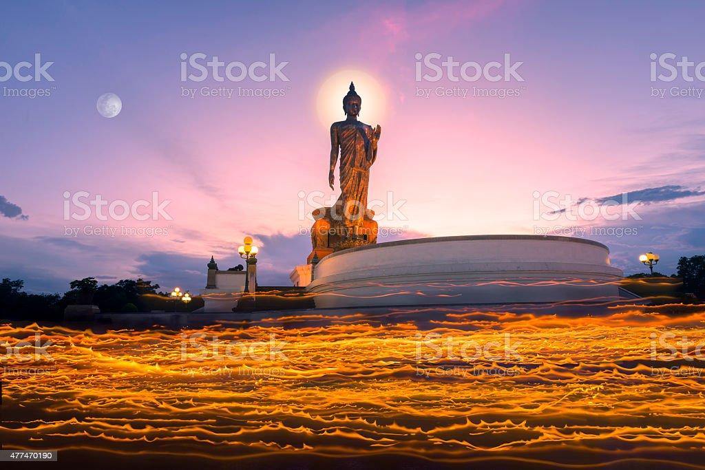 visakha bucha day, Phutthamonthon, nakhon pathom, thailand stock photo