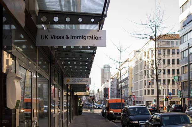 UK Visas & Immigration Duesseldorf, Germany - February 13 2018 : UK Visas & Immigration office in Duesseldorf, Germany pasport malaysia stock pictures, royalty-free photos & images