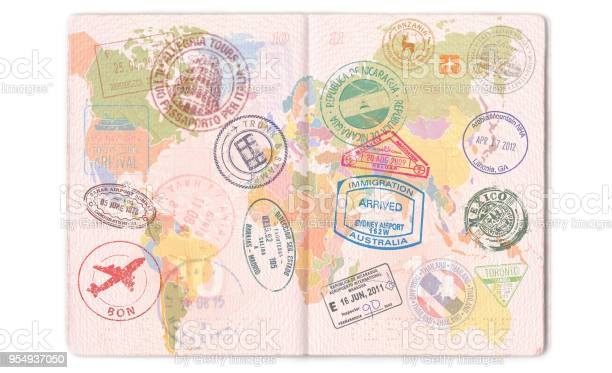 Visas stamps seals in the passport world map travel picture id954937050?b=1&k=6&m=954937050&s=612x612&h=jgfdqcxyvr3efgkvik3ley4vfqktgsovowsen1ipium=