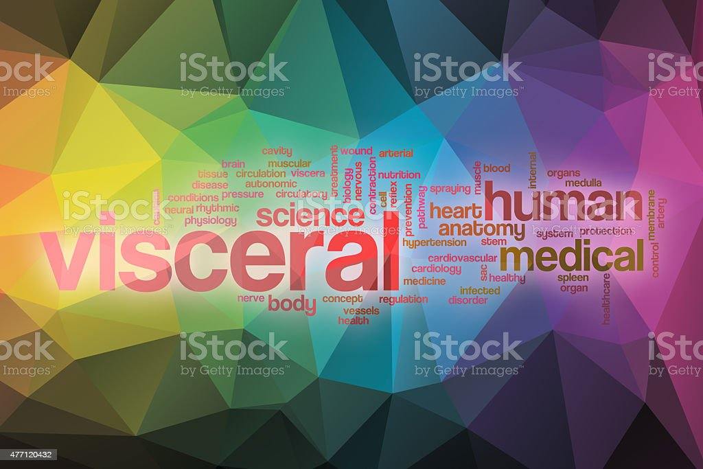 Visceral word cloud with abstract background stock photo