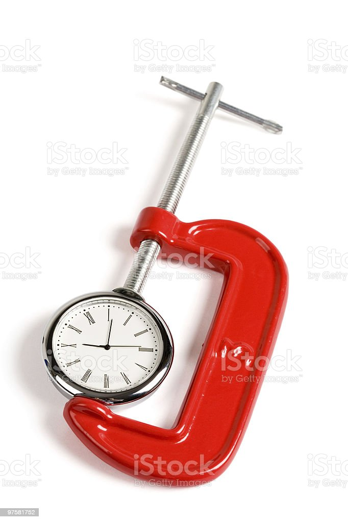 Vise Grip and Clock royalty-free stock photo