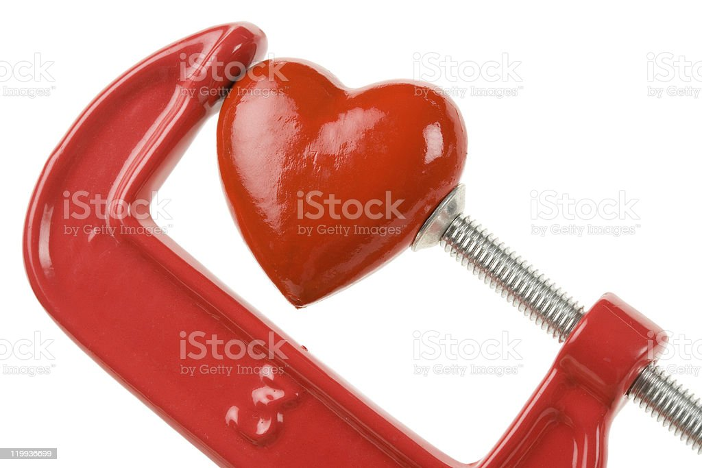 Vise Grip and red heart stock photo