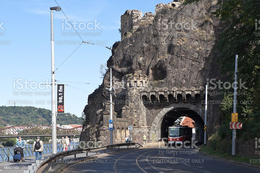 Visegrad tunnel. Prague. Czech Republic. stock photo