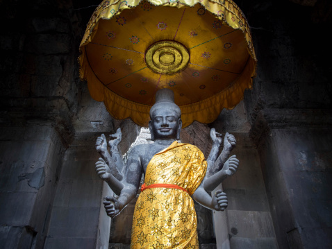 istock Vishnu Statue in Angkor Wat, Cambodia 465236069