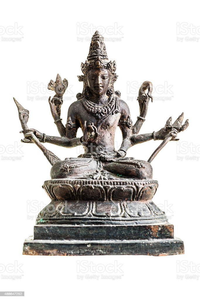Vishnu statue stock photo