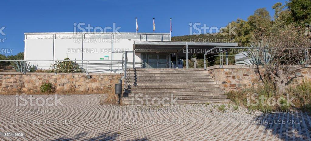 Visigothic Basilica of Santa Lucia del Trampal Interpretation Centre, Alcuescar, Spain stock photo