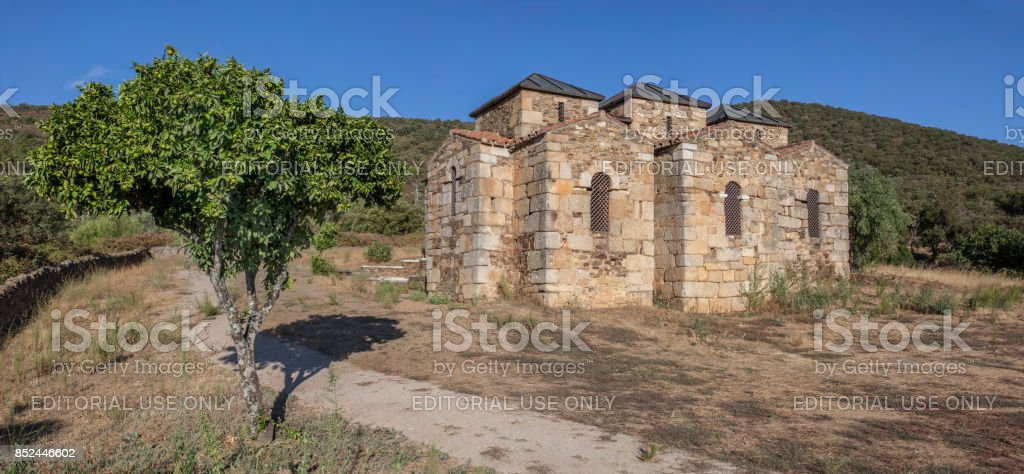Visigothic Basilica of Santa Lucia del Trampal, Outdoors view stock photo