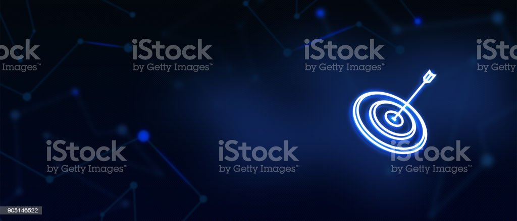 Vision concept, Aim, Target, Aspiration, Success concept, Contact us message, Landing page background cover page royalty-free stock photo