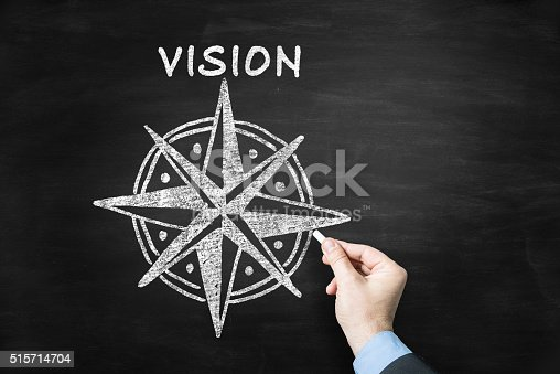 vision concept on blackboard