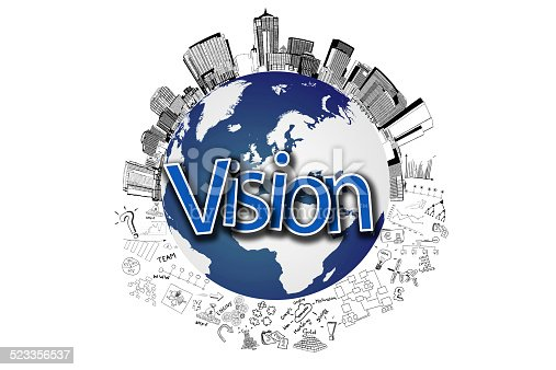 istock Vision creative drawing charts and graphs business success strategy plan 523356537
