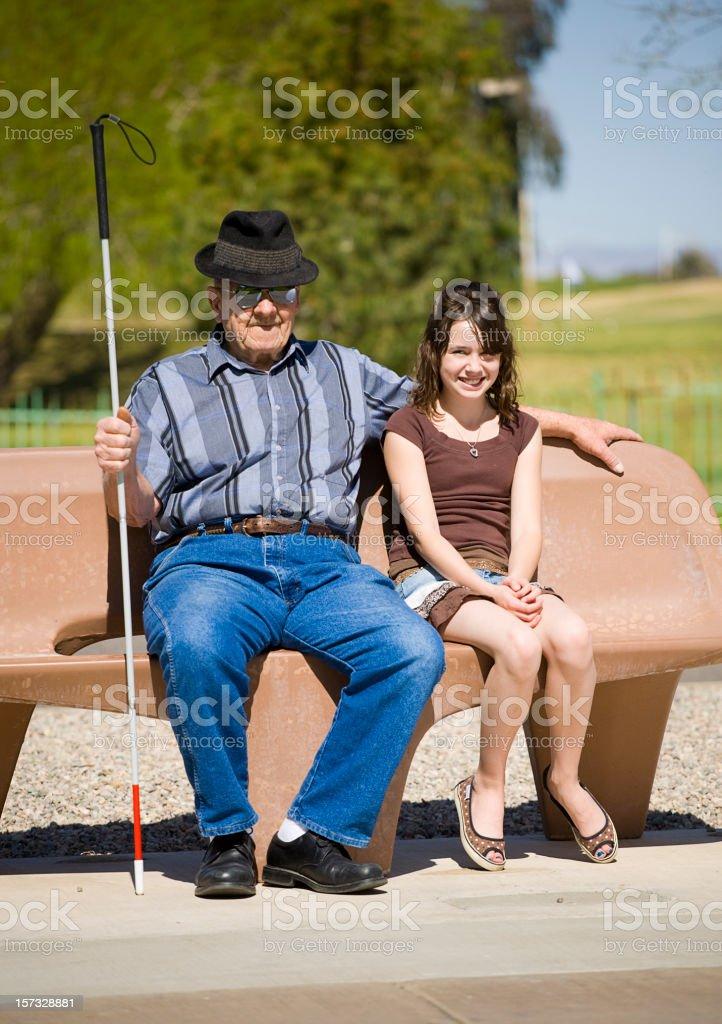 alter mann mit jungen madchen