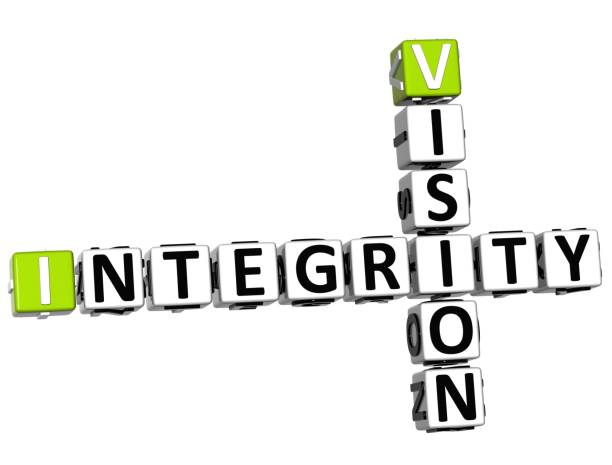 3d vision integrität kreuzworträtsel - kreuzworträtsel lexikon stock-fotos und bilder