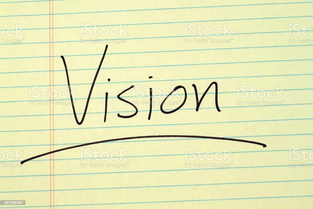 Vision On A Yellow Legal Pad stock photo