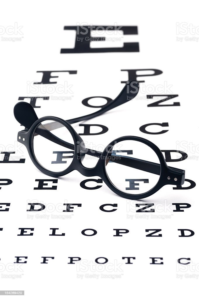 Vision screening royalty-free stock photo