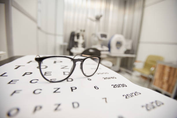 Vision Test Background stock photo