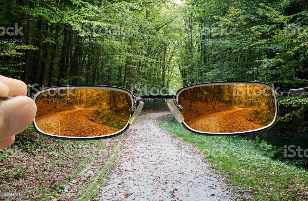 Vision drehen Frühling bis in den Herbst – Foto