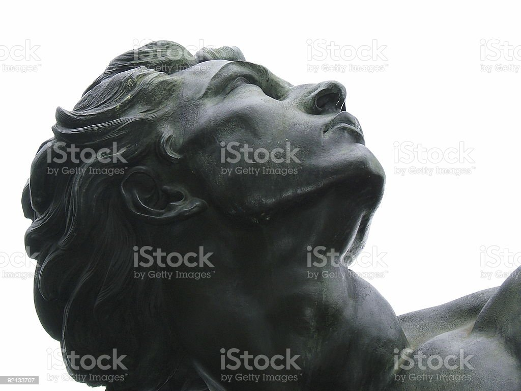 Visionary bronze man royalty-free stock photo