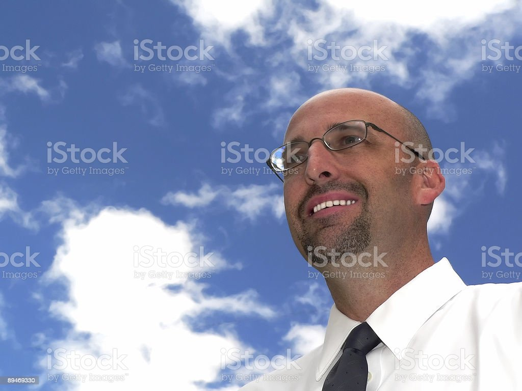 Visionary Businessman royalty-free stock photo