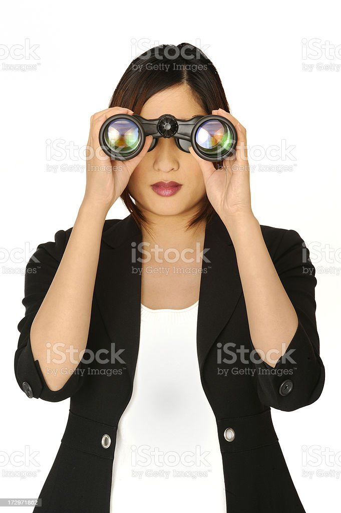 visionary businesswoman royalty-free stock photo