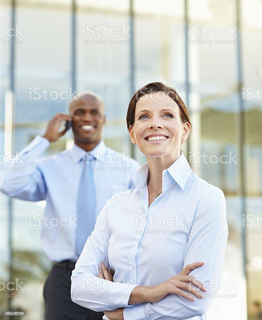 Visionary female executive royalty-free stock photo