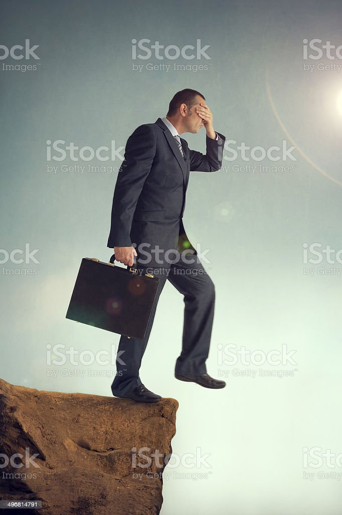 visionless businessman stock photo