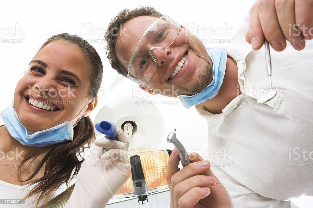 Visit at the dentist stock photo