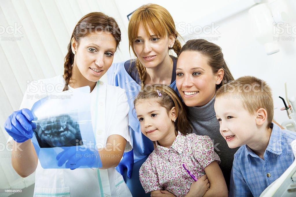 Visit at the dentist royalty-free stock photo