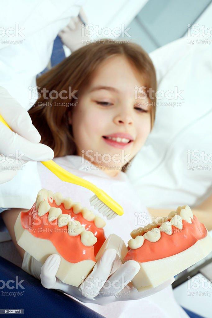 Visit at the dentist. royalty-free stock photo