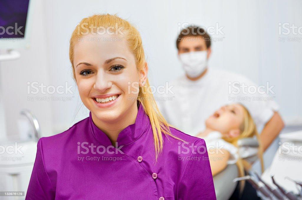 Visit at the dentist's surgery royalty-free stock photo