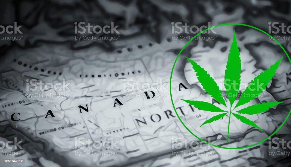 Visit Canada and smoke up! stock photo
