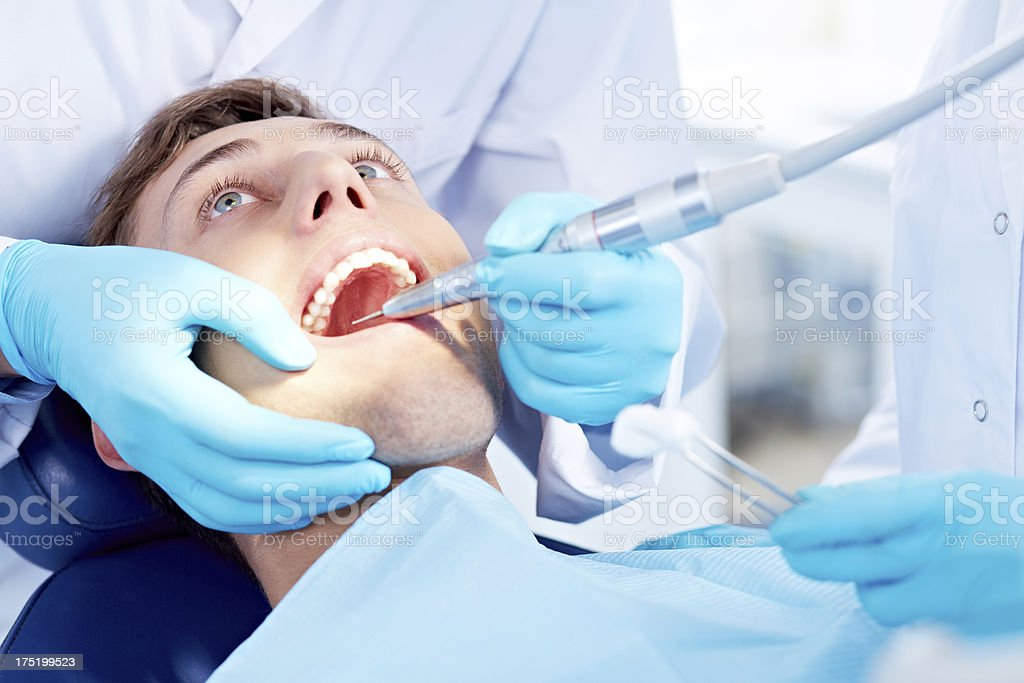 Visit of dentist royalty-free stock photo