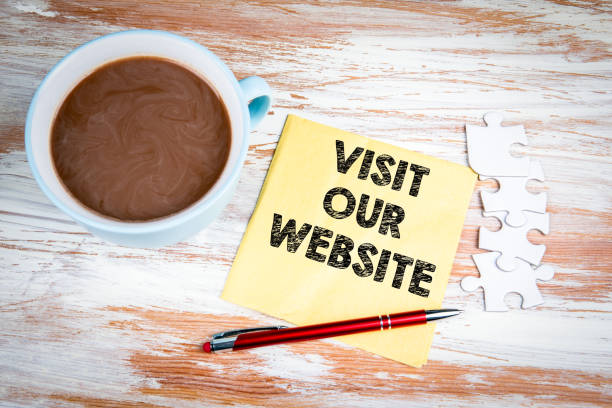 Visit Our Website stock photo