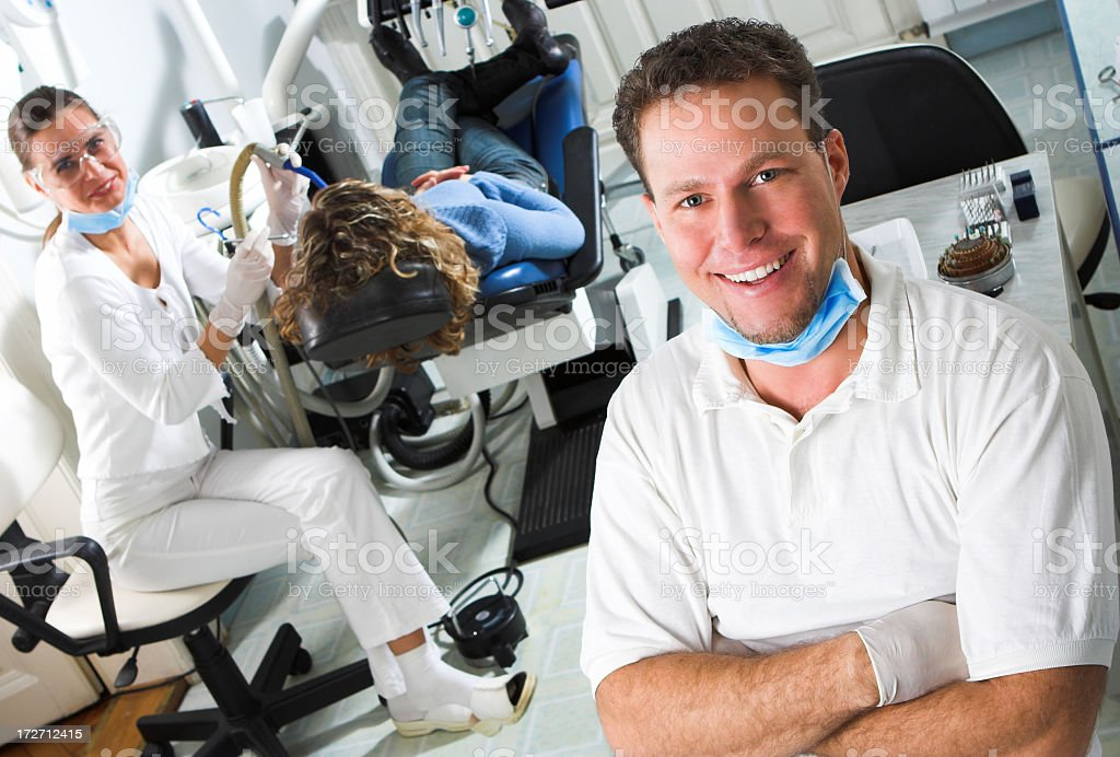 Visit the dentist for mouth surgery royalty-free stock photo