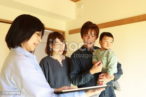 952643774 istock photo Visit to New house with real estate agent 1191899768