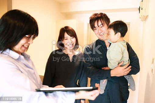 952643774 istock photo Visit to New house with real estate agent 1191899778