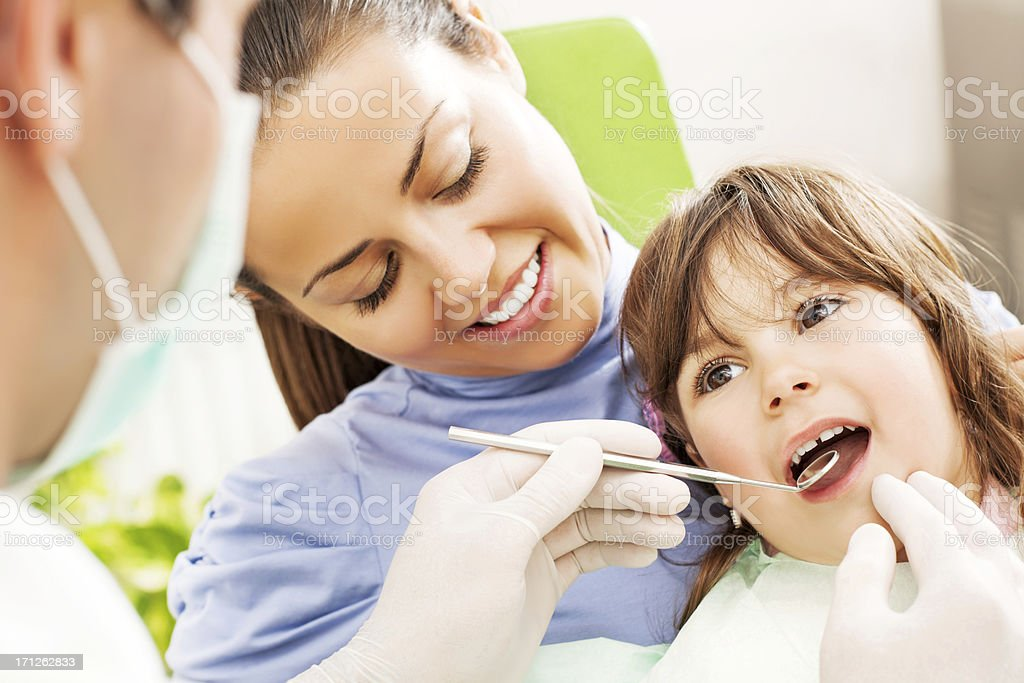 Visit to the dentist. royalty-free stock photo