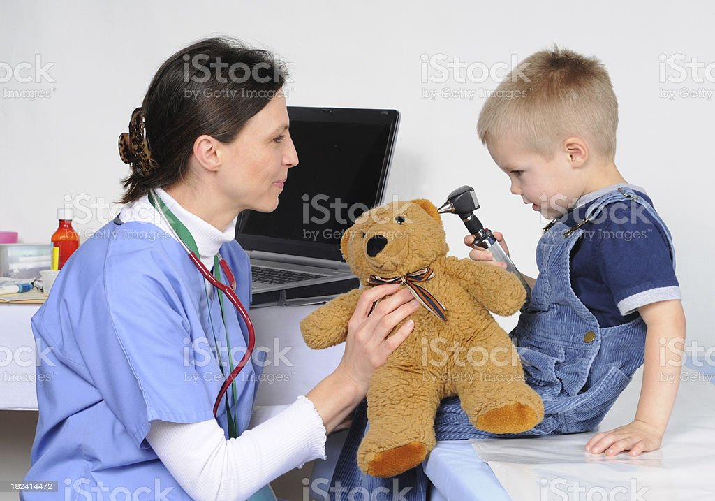 Visit to the doctor royalty-free stock photo