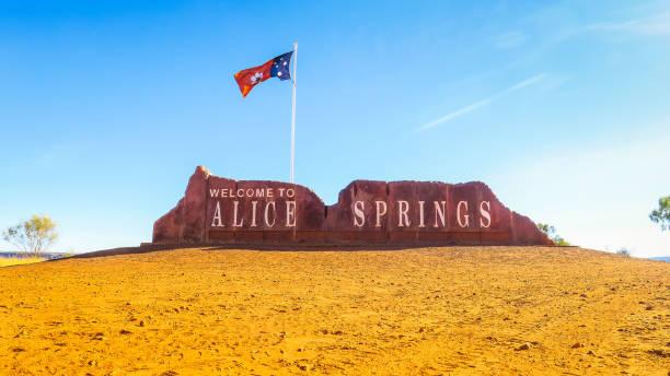 Visiting Alice Springs in Australia stock photo