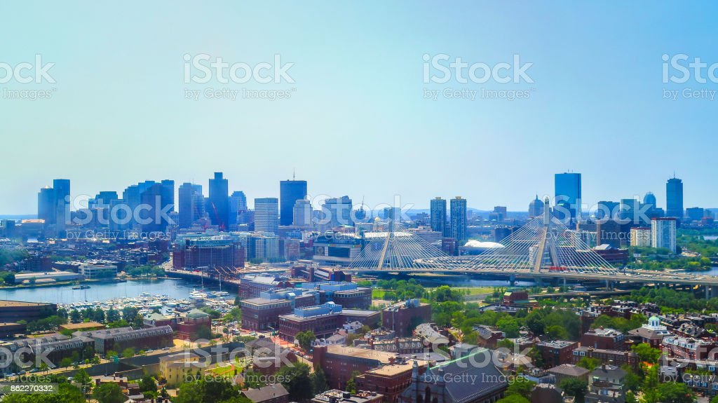 Visiting Boston in Massachusetts stock photo