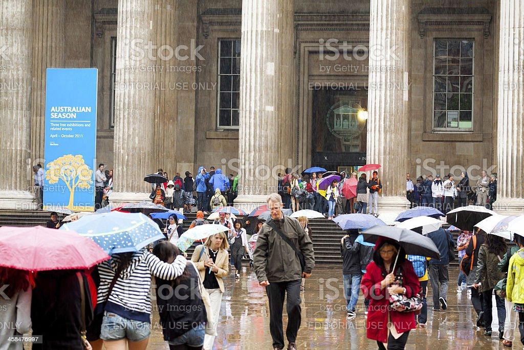 Visiting British Museum stock photo