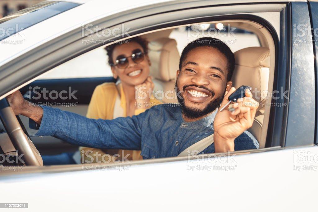 Key Car Dealership >> Visiting Car Dealership Afro Couple Showing Car Key Stock