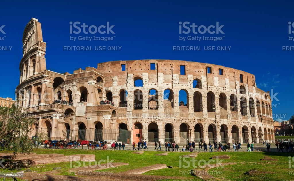 Visiting Coliseum in Rome - Royalty-free Amphitheater Stock Photo